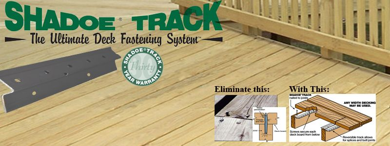 SHADOE TRACK 8FT HIDDEN DECK FASTENERS - Pan American Screw